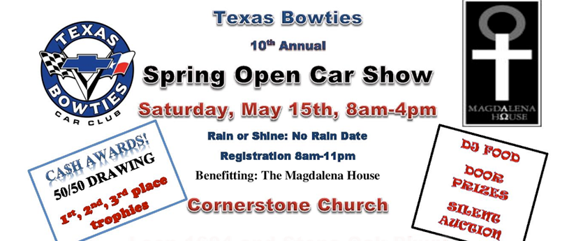 Texas Bowties 10th Annual Spring Open Car Show